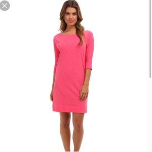 Lilly Pulitzer Pink Casual T Shirt Dress Cotton